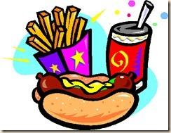 hot dog meal